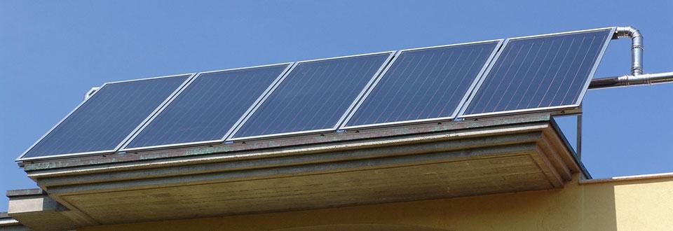 Pannelli solari ad acqua calda